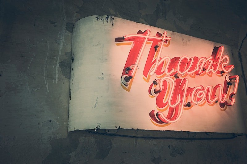 thank you sign by gratisography pexels light-sign-typography-lighting-519