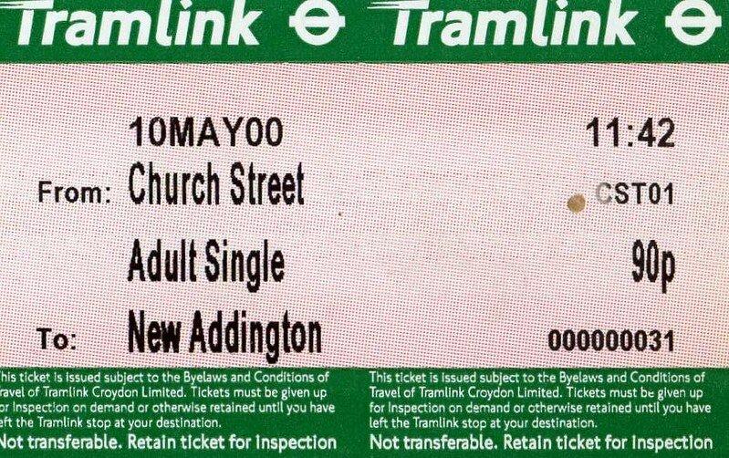 ticket stub tramlink via sludge