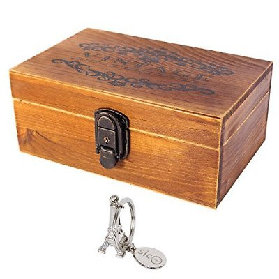 vintage travel keepsake box with key