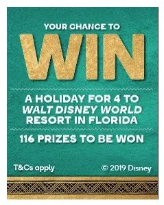woolworths win a holiday to walt disney world competition 2019
