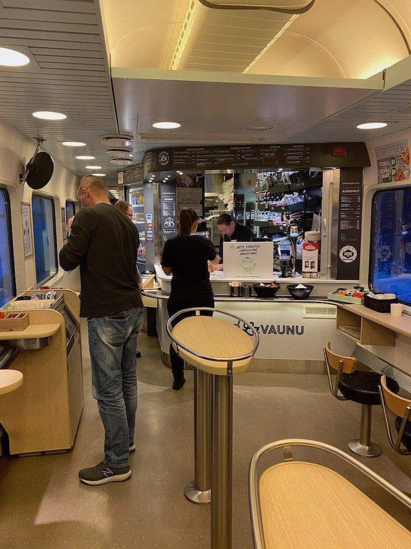 Image - Helsinki to rovaniemi train cafe restaurant car