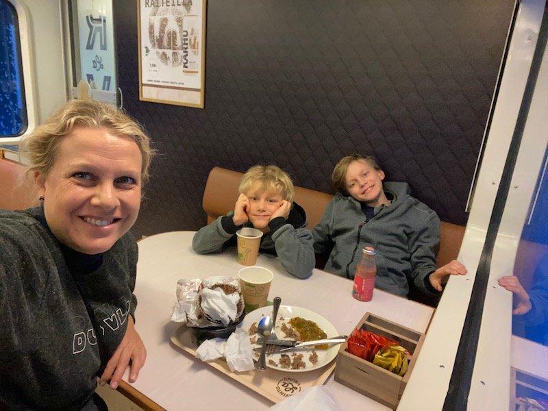 Image - Helsinki to rovaniemi train meals carriage