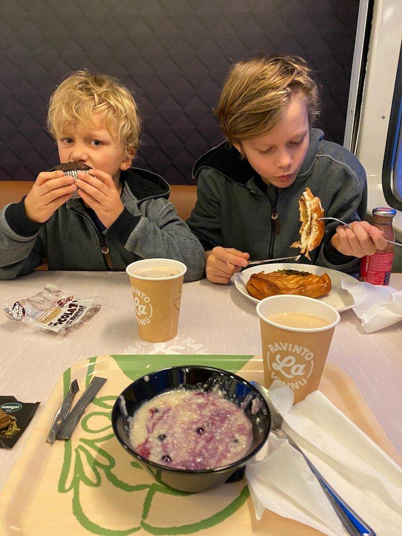 Image - Helsinki to rovaniemi train on board menu- breakfast