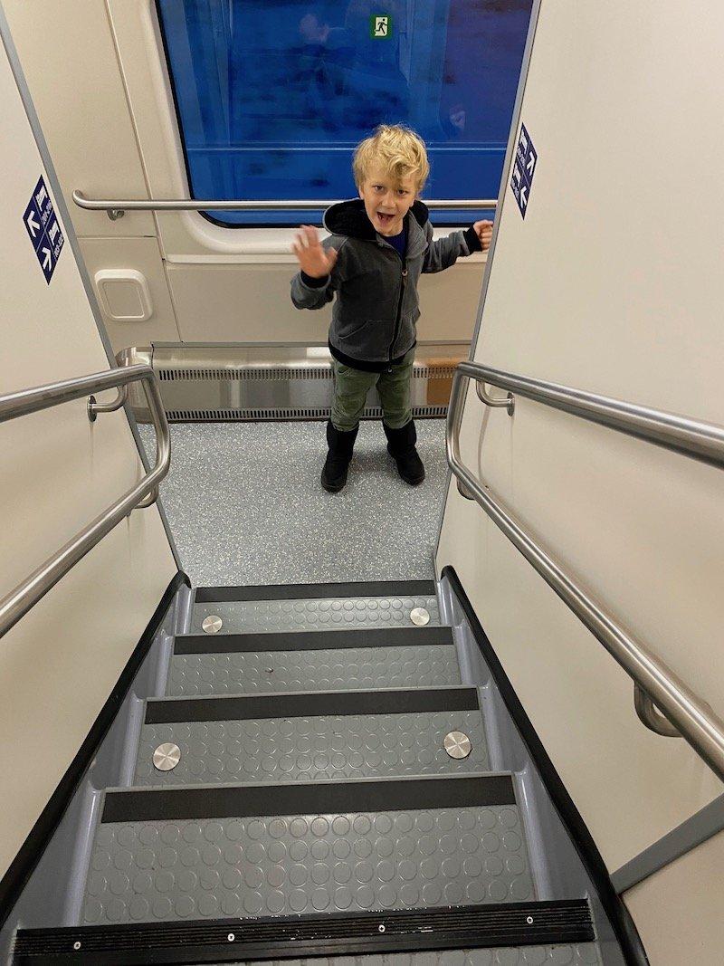 Image - Helsinki to rovaniemi train stairs
