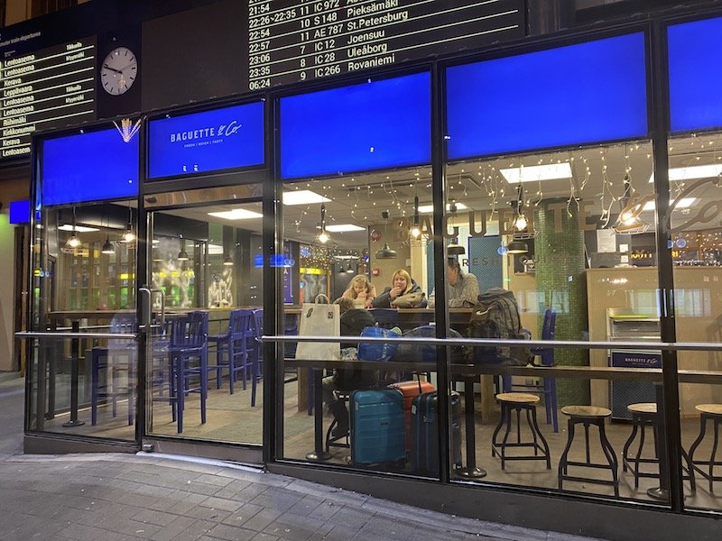 Image - Helsinki train station bagette and co coffee shop