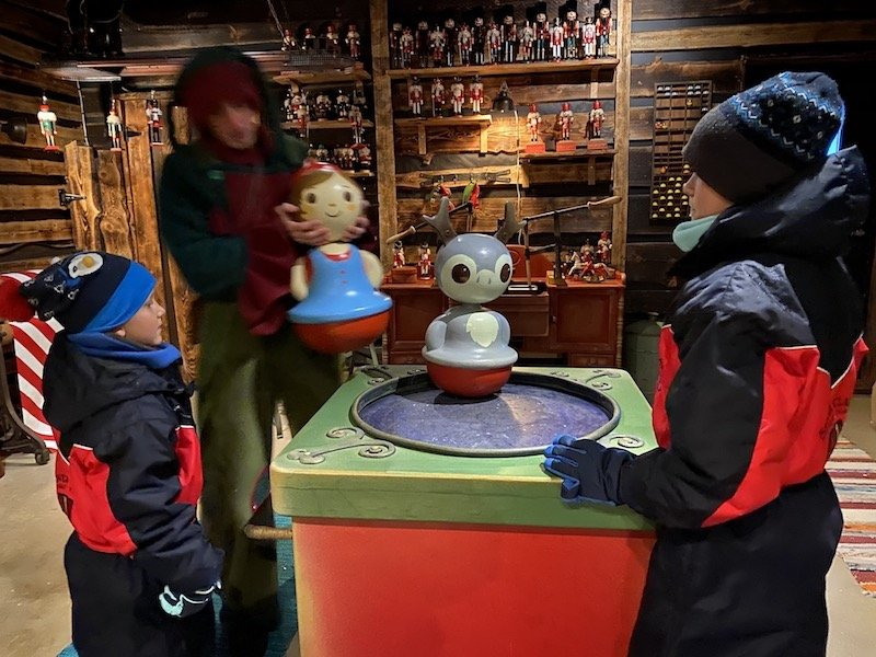 Image - meeting Lapland elves at santa claus secret forest of joulukka inside the toy factory