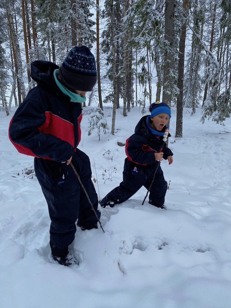 Image - snow adventures at santa claus secret forest of joulukka tour