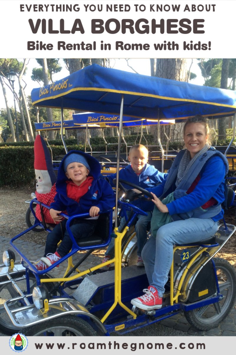 PIN villa borghese bike rental pic