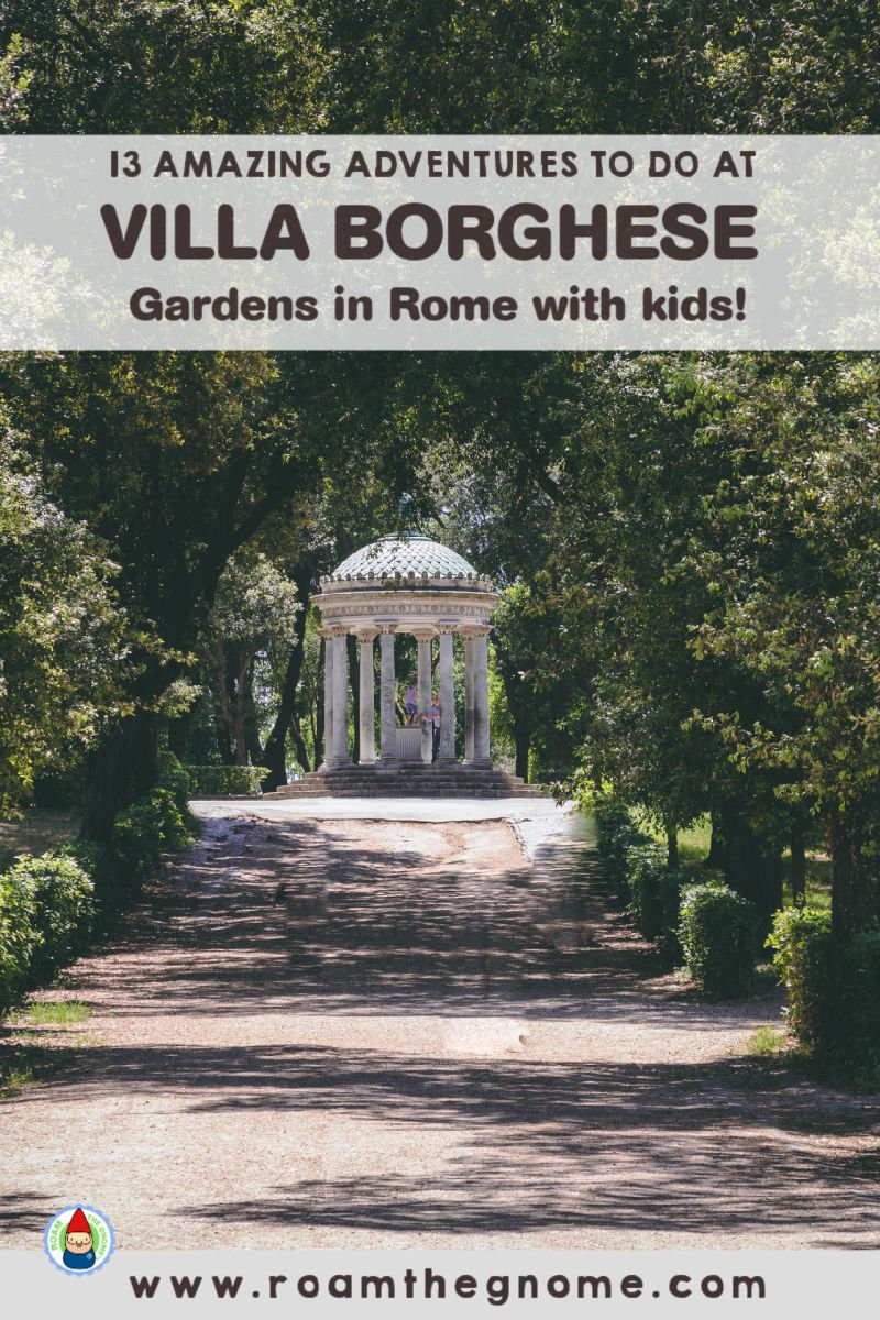 PIN villa borghese with kids