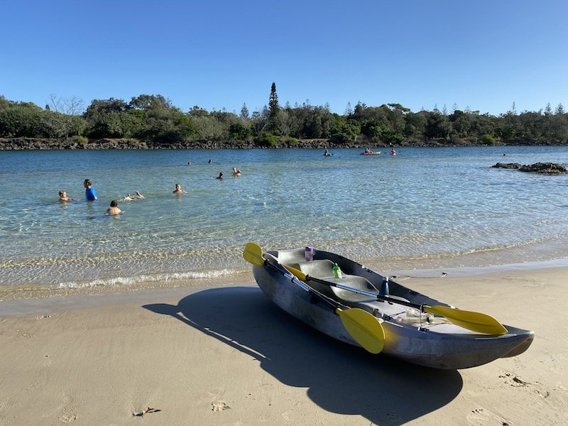 christmas beach kayaks pic
