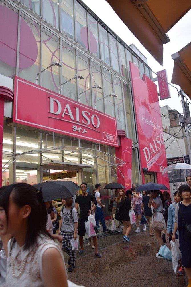 daiso harajuku shop front
