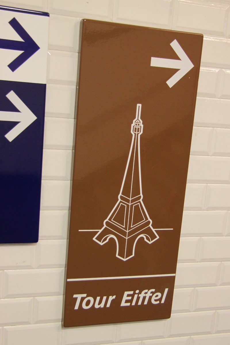 eiffel tower sign pic by richard allaway