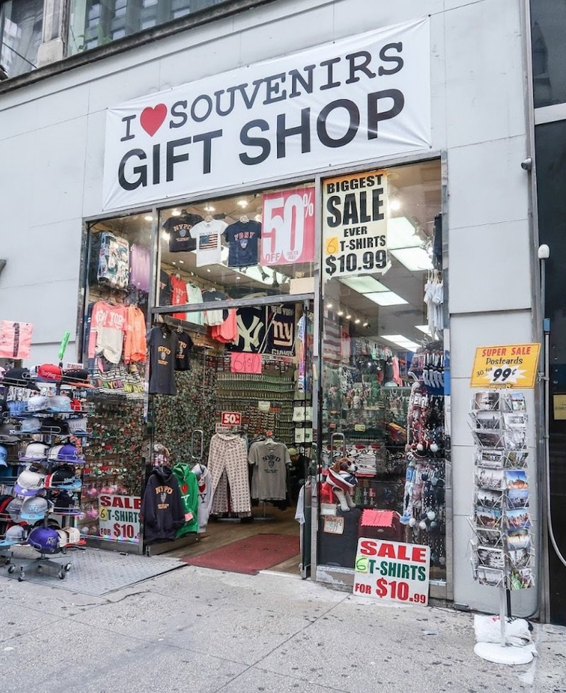 image - I love souvenirs gift shop new york