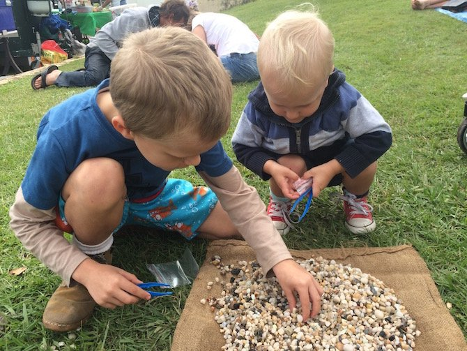image - hunting for crystals at lismore gemfest