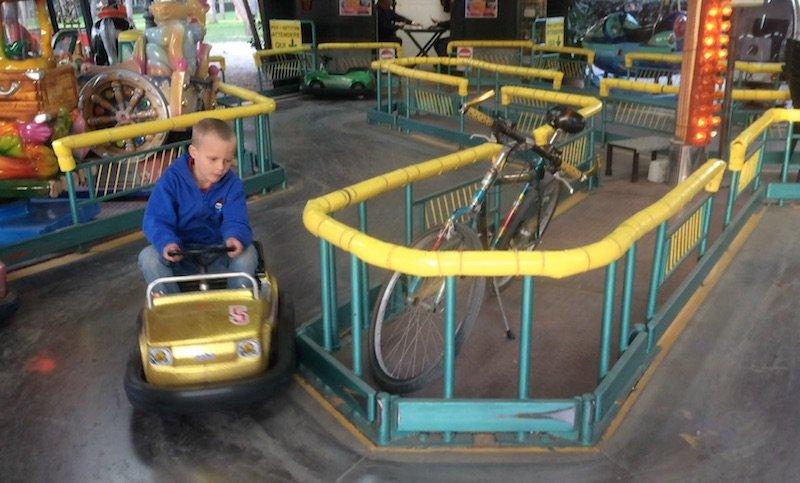 image - ned riding car track at villa borghese gardens games arcade pic