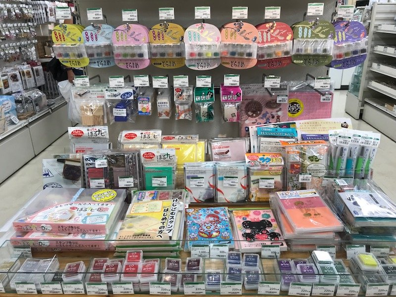 japanese stationery store in tokyo - tokyu hands stamping stuff pic 800