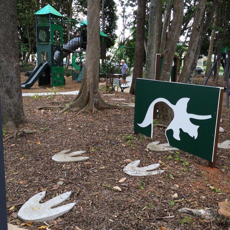 knox park murwillumbah playground dinosaurs pic