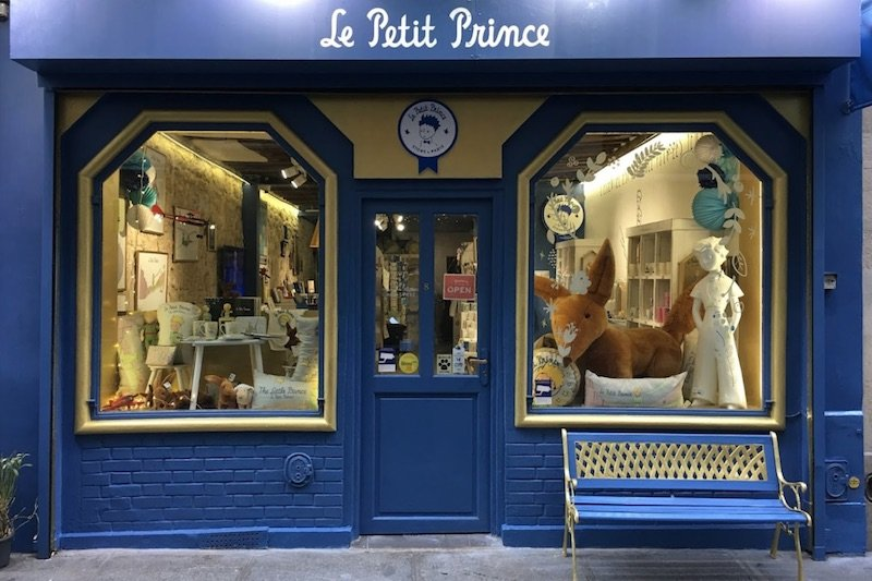 little prince toy shop in paris