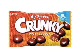 lotte chocolate crunky balls pic