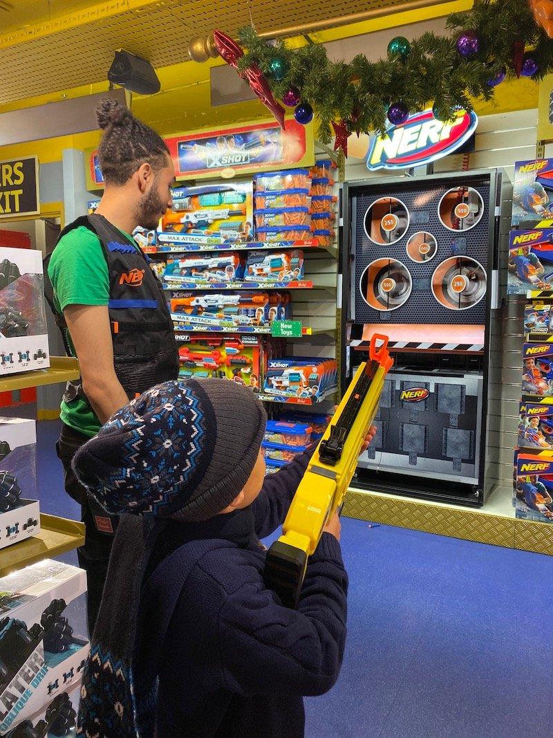 nerf gun challenge at hamleys pic 800