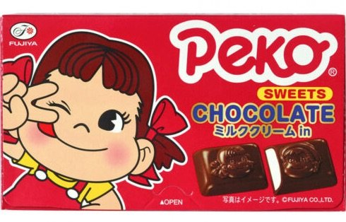 peko milky chocolate pic