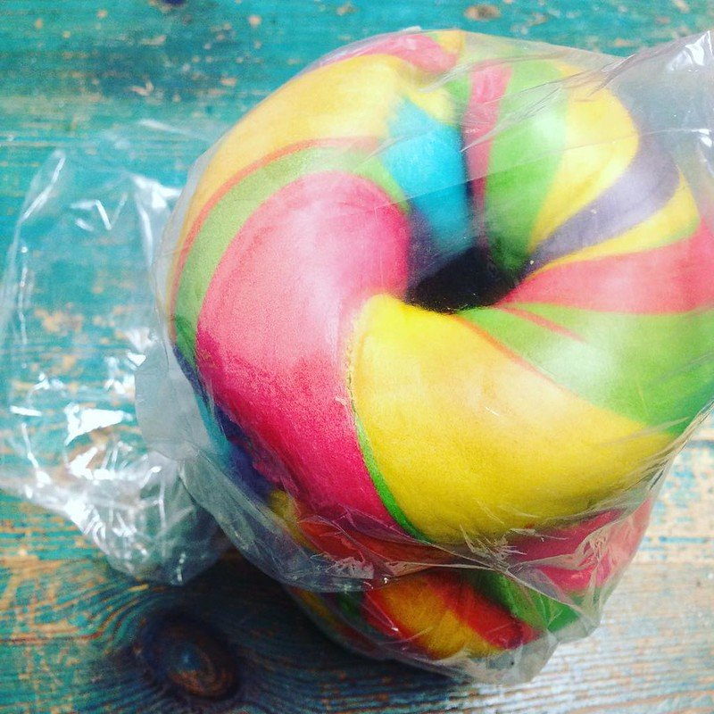 rainbow bagels by louise mclaren