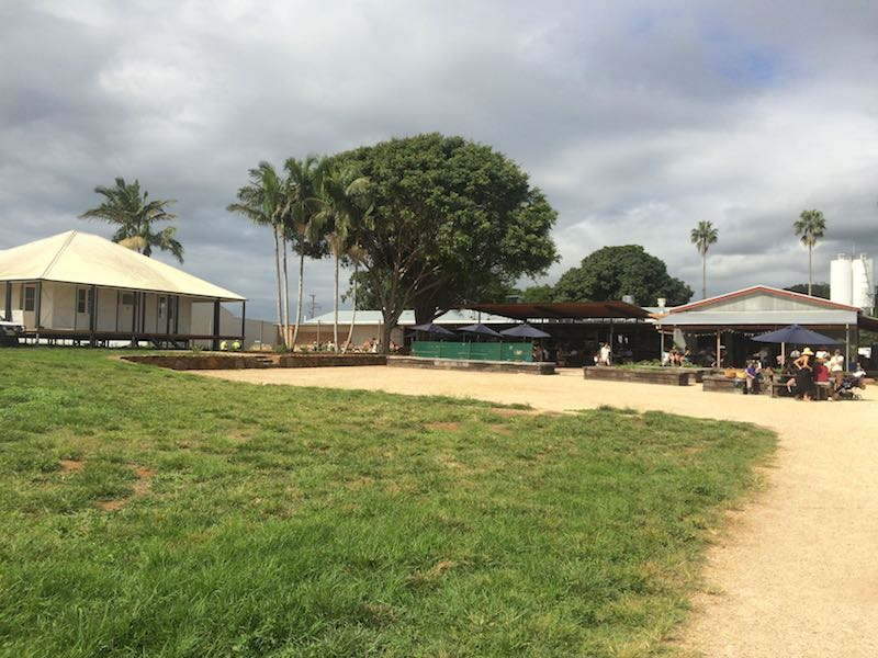 the farm byron bay grounds pic