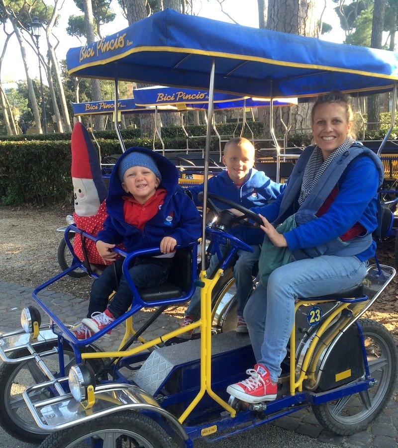 villa borghese rome bike rental 800