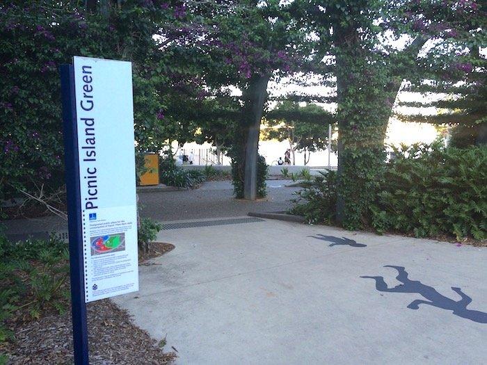 Picnic Island Green South Bank entrance pic