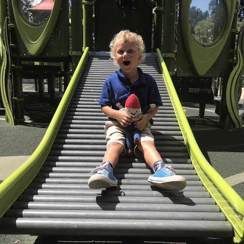 brisbane botanic garden playground roller slide pic