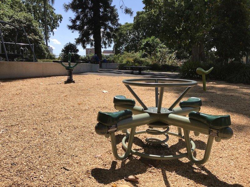 brisbane botanic garden playground seesaw pic