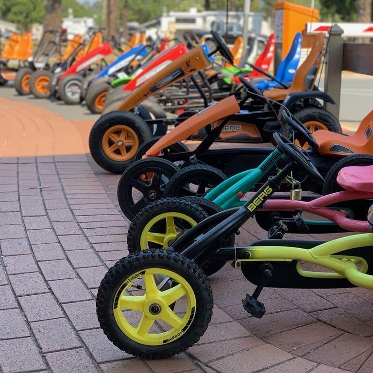 pedal carts at tallebudgera creek tourist park via fb