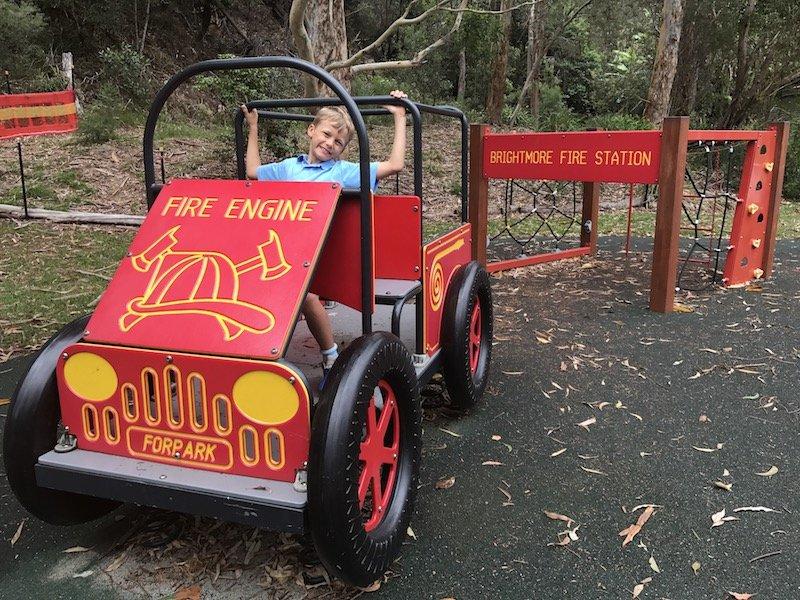 photo - Brightmore Reserve Kids Bike Park_fire engine play