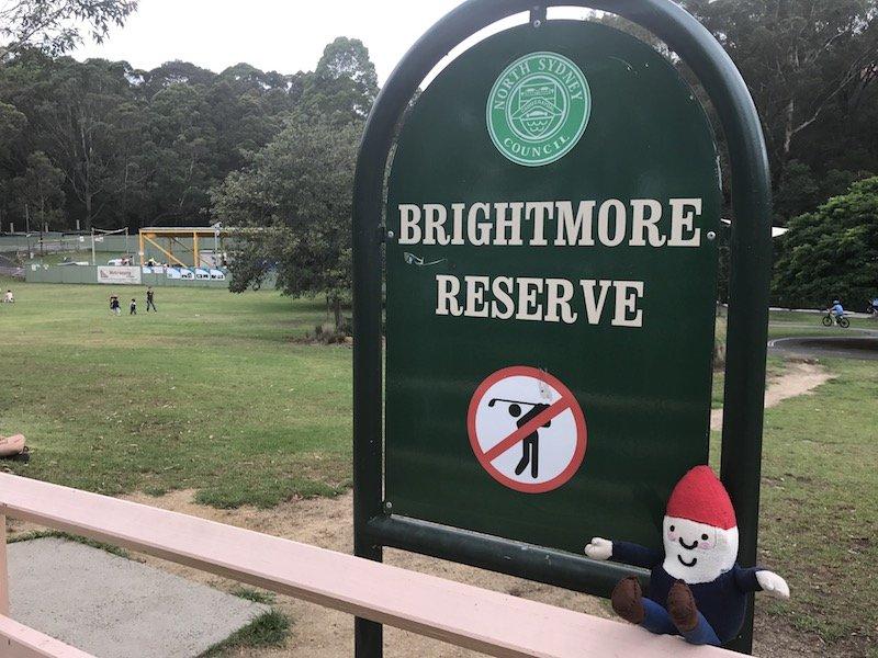 photo - Brightmore Reserve Kids Bike Park_signpost