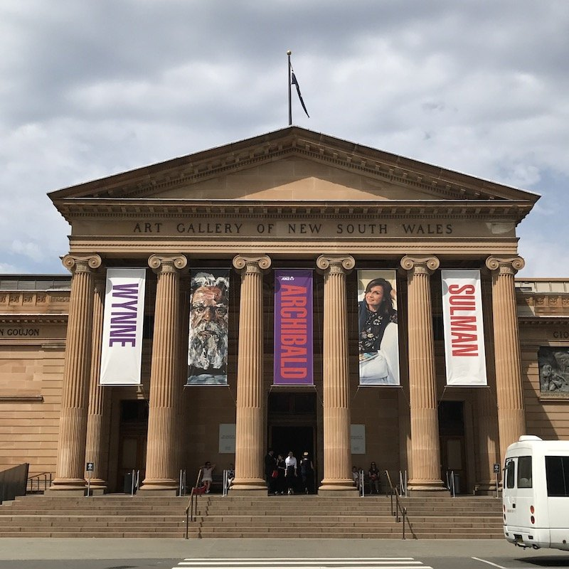 photo - art gallery of nsw entrance