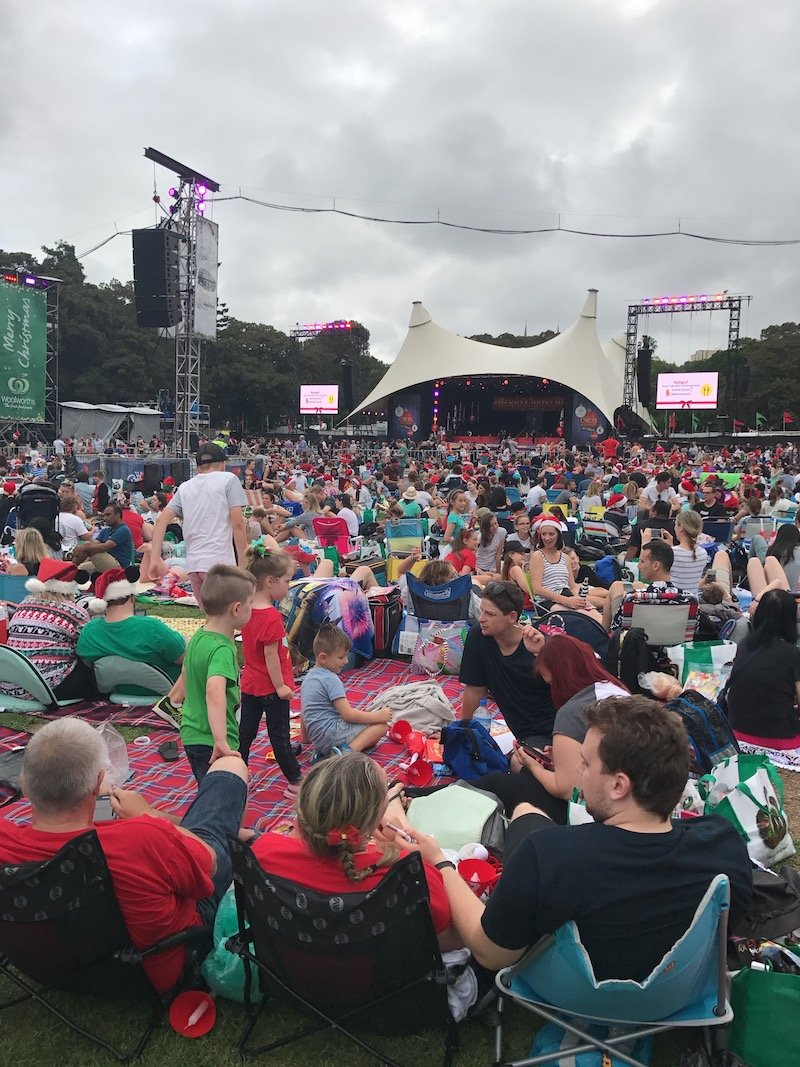 photo - christmas carols in the domain stage view