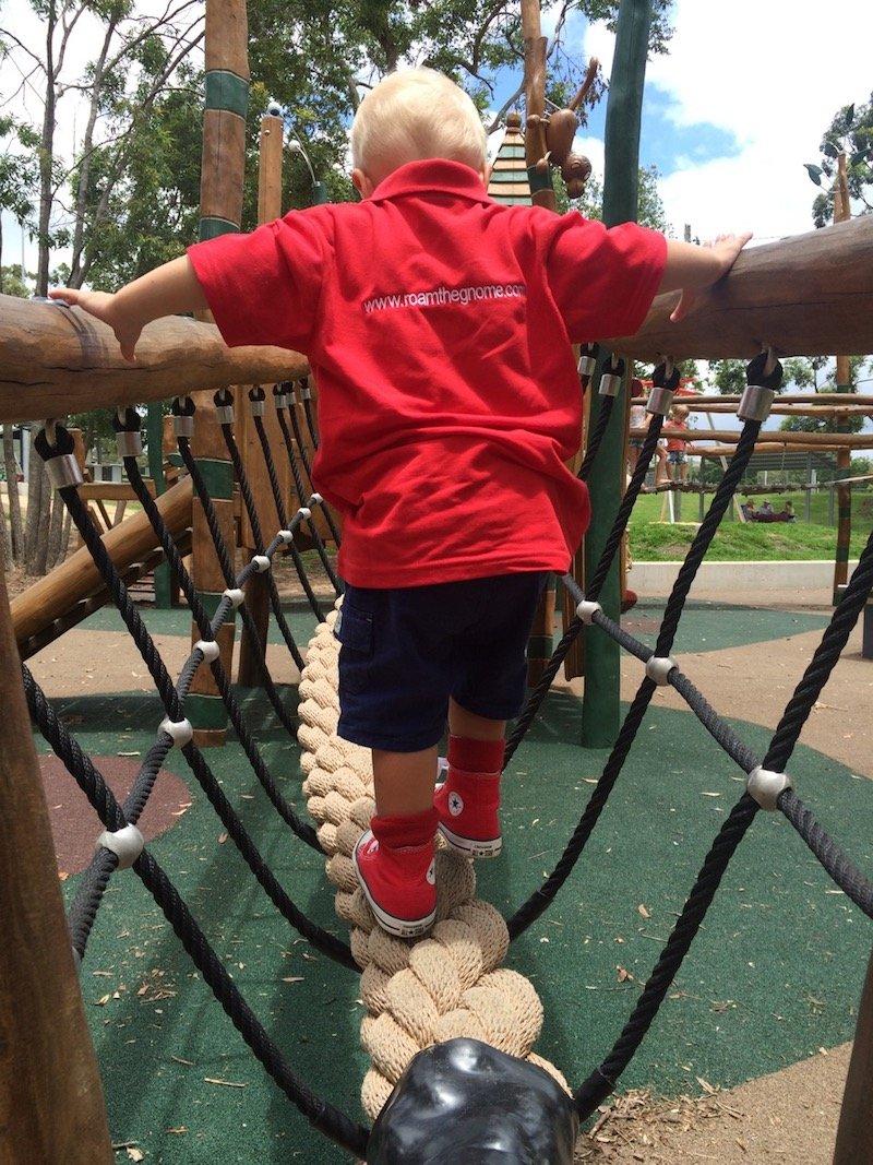 photo - funderwood hollow playground bridge