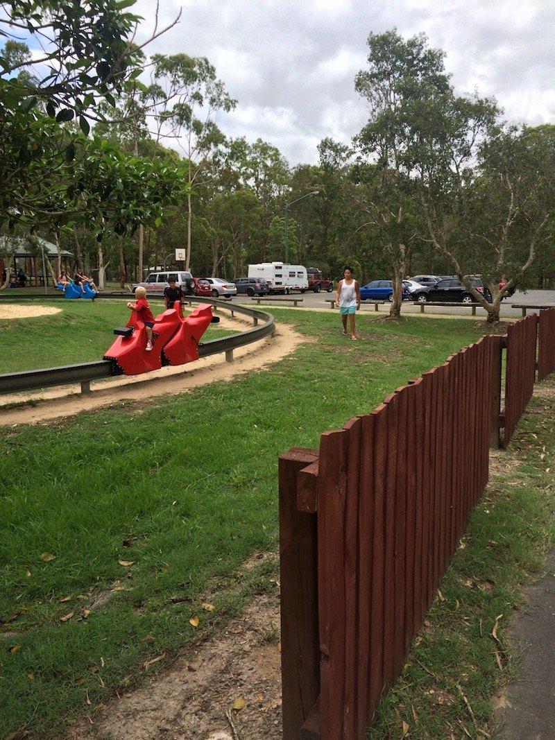 photo - funderwood hollow playground monorail ride