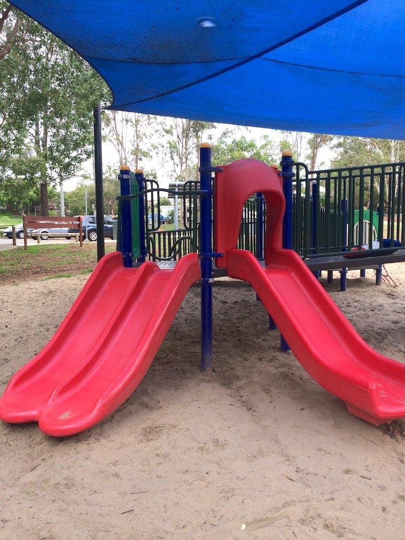 photo - funderwood hollow playground slides
