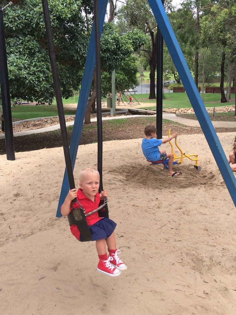 photo - funderwood hollow playground swings and diggers