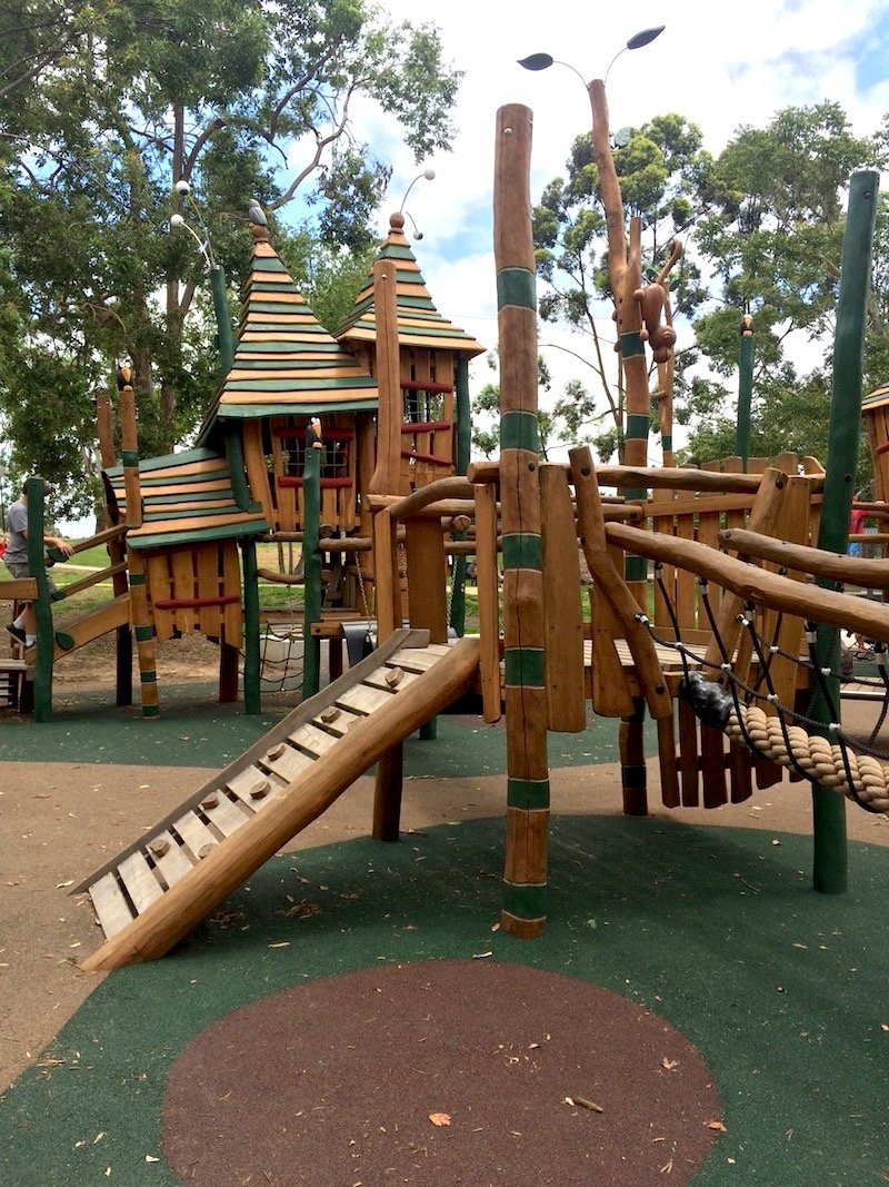 photo - funderwood hollow playground timber fairy fort