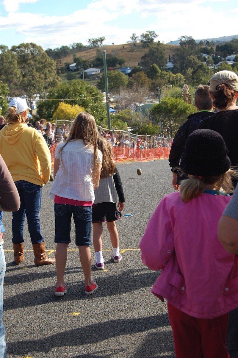 photo - goomeri pumpkin festival roll the pumpkin race