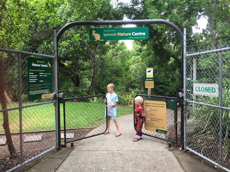 photo - ipswich nature centre entrance gates