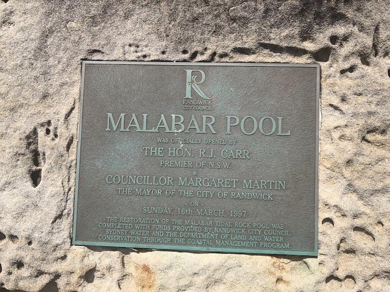 photo - malabar pool sign