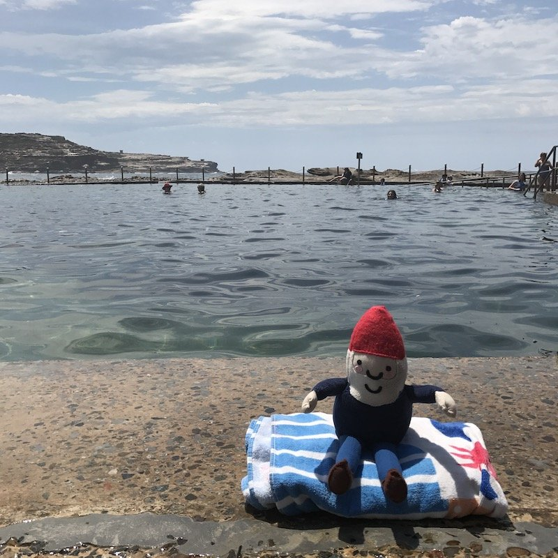 photo - malabar rock pool with roam the gnome