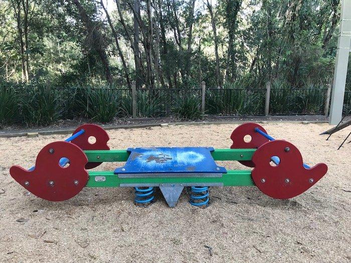 photo - parklake park playground seesaw