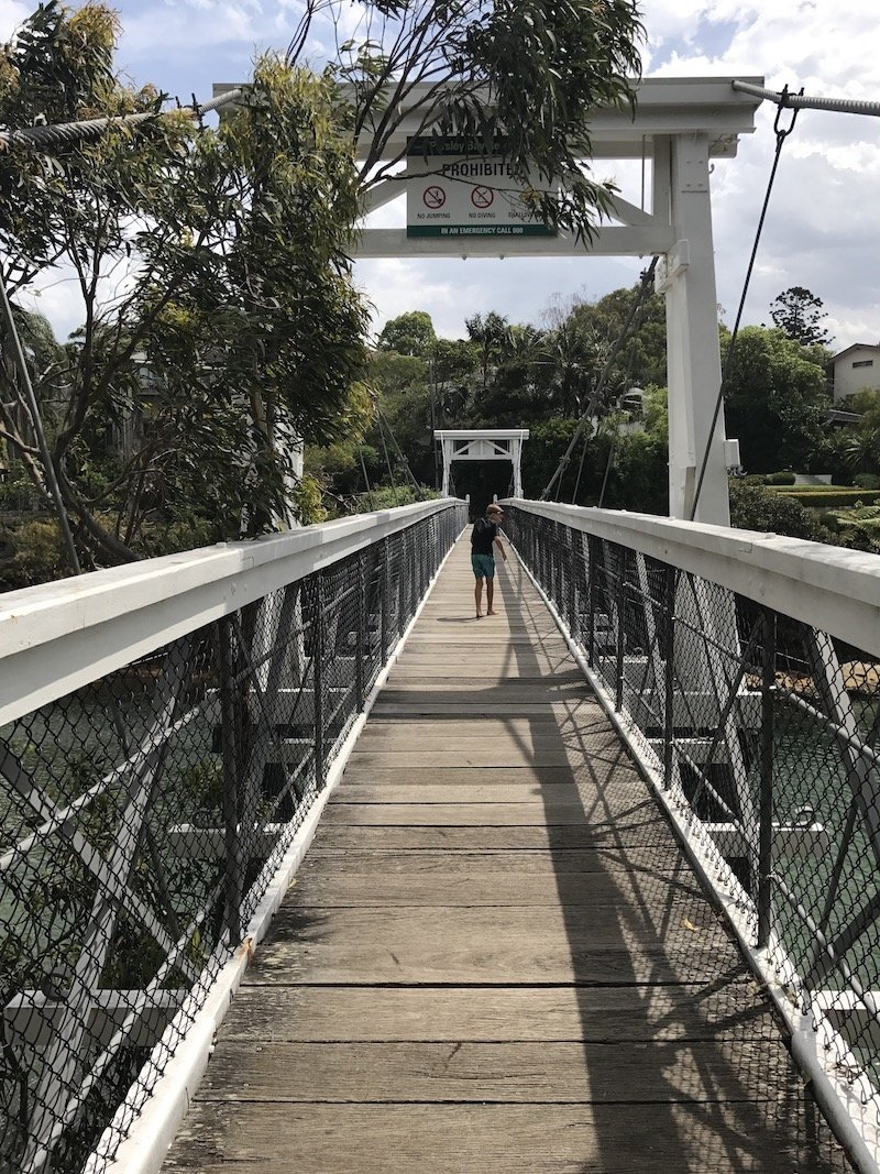 photo - parsley bay suspension bridge