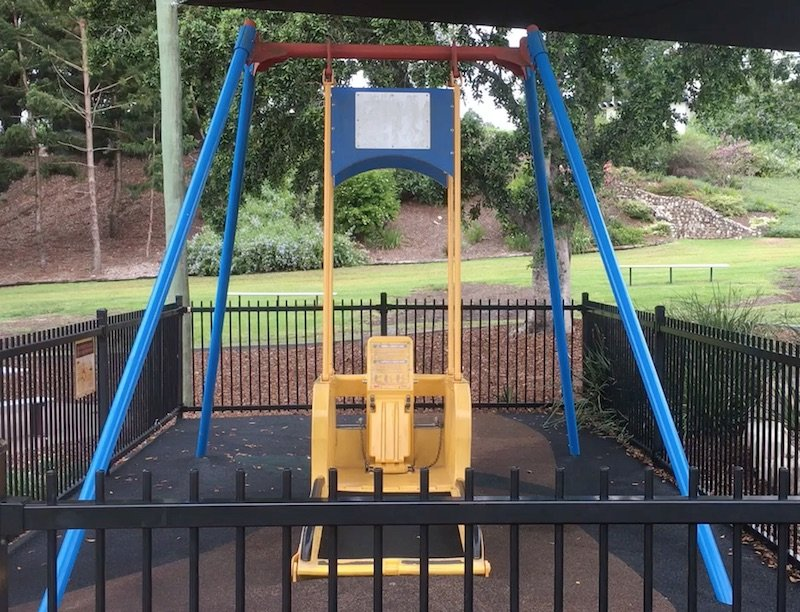 photo - liberty swing at queens park playground pic