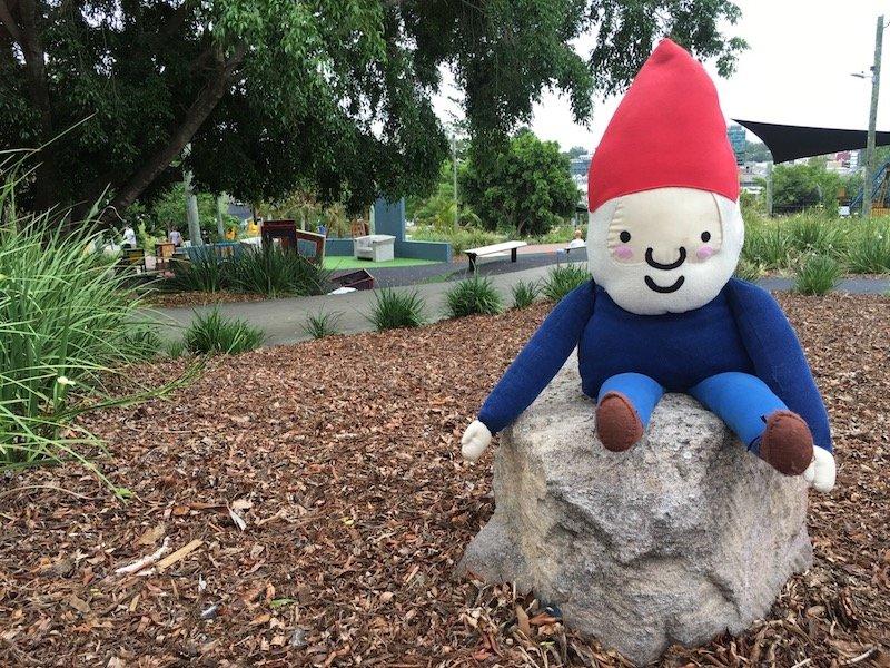 photo - queens park playground roam the gnome