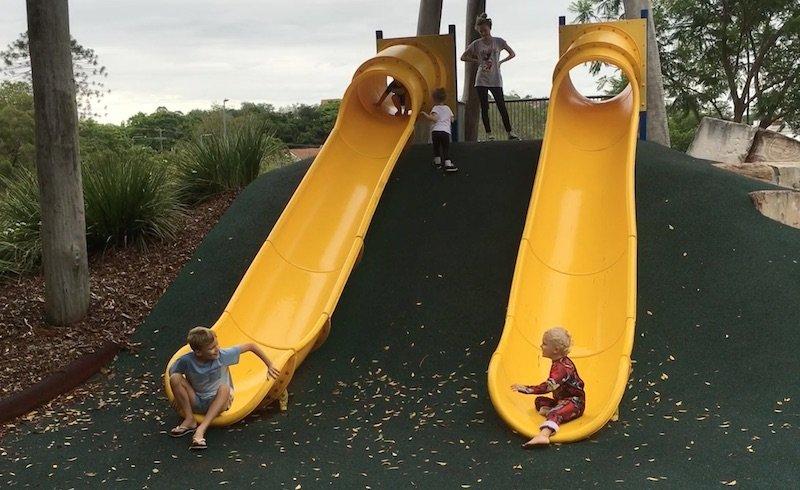 photo - queens park playground slides